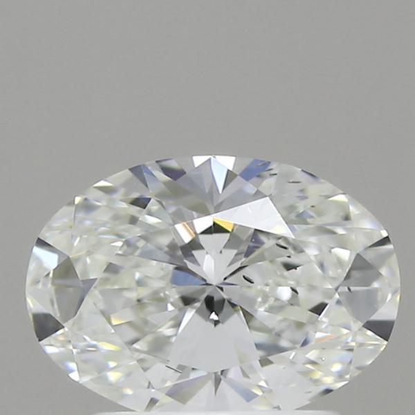 1.08 Carat F-SI1 Ideal Oval Diamond
