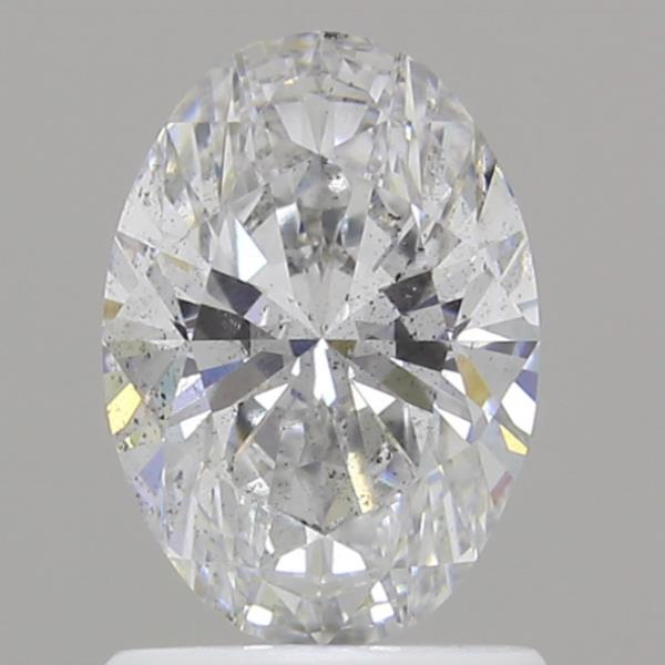 1.09 Carat F-SI2 Ideal Oval Diamond